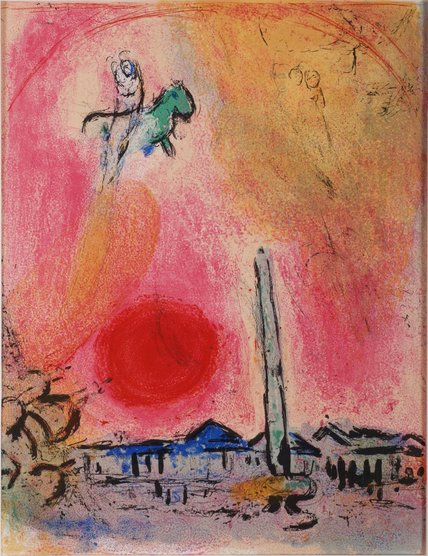 MARC CHAGALL   Place de la Concorde , 1961  Original lithograph on on wove paper, 39 x 30 cm  £2,200   enquire >