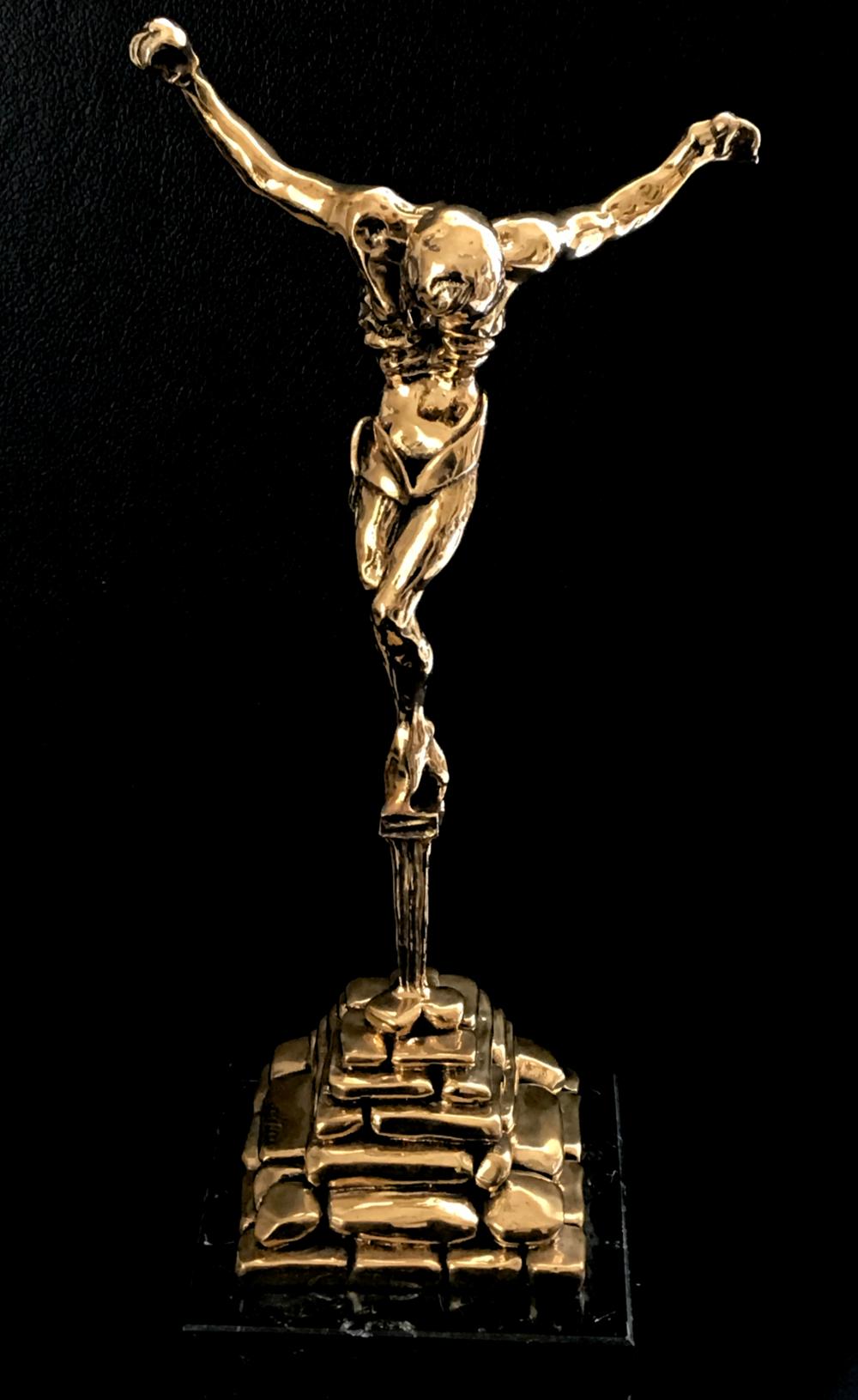 SALVADOR DALÍ   Christo de San Juan de la Cruz [ Christ of Saint John the Cross ], c. 1970  Original bronze patinated sculpture, on black marble base. Signed by the artist. Edition of 350. 43.7 x 21 cm  Accompanied by a certificate of authenticity.  £4,500   enquire >