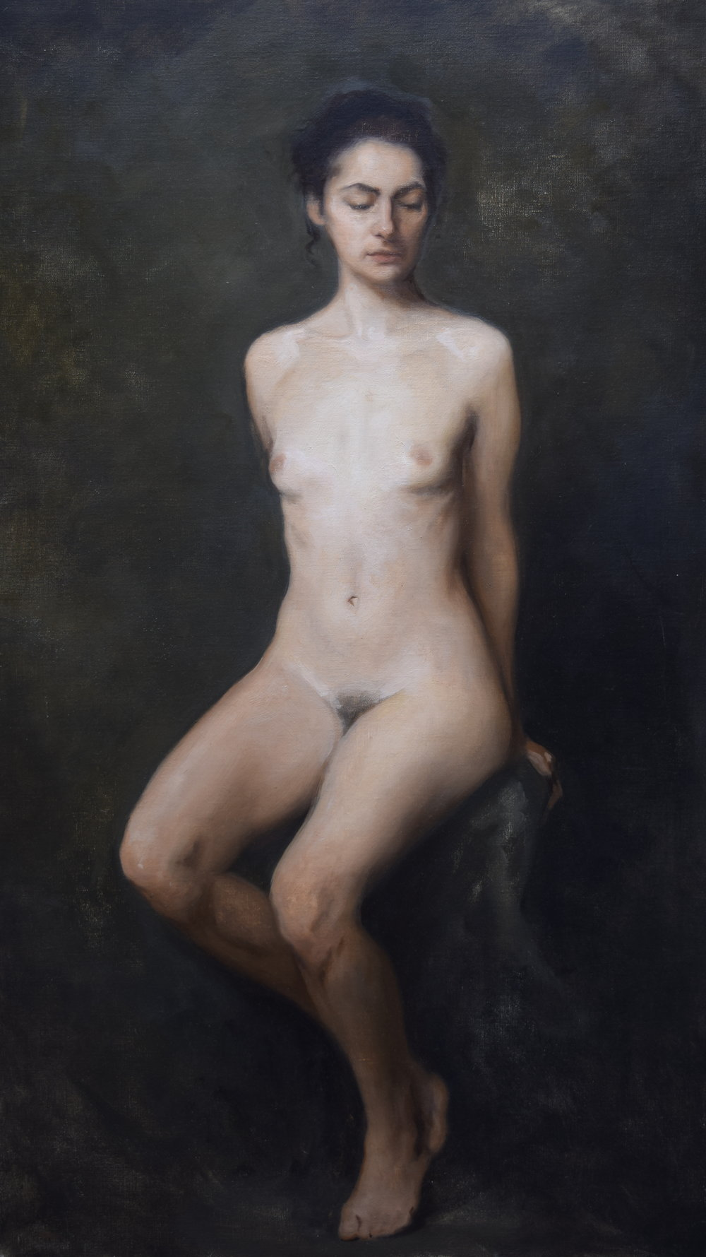 Isabella Watling, Amore, Oil on Canvas, 96 x 55 cm.JPG