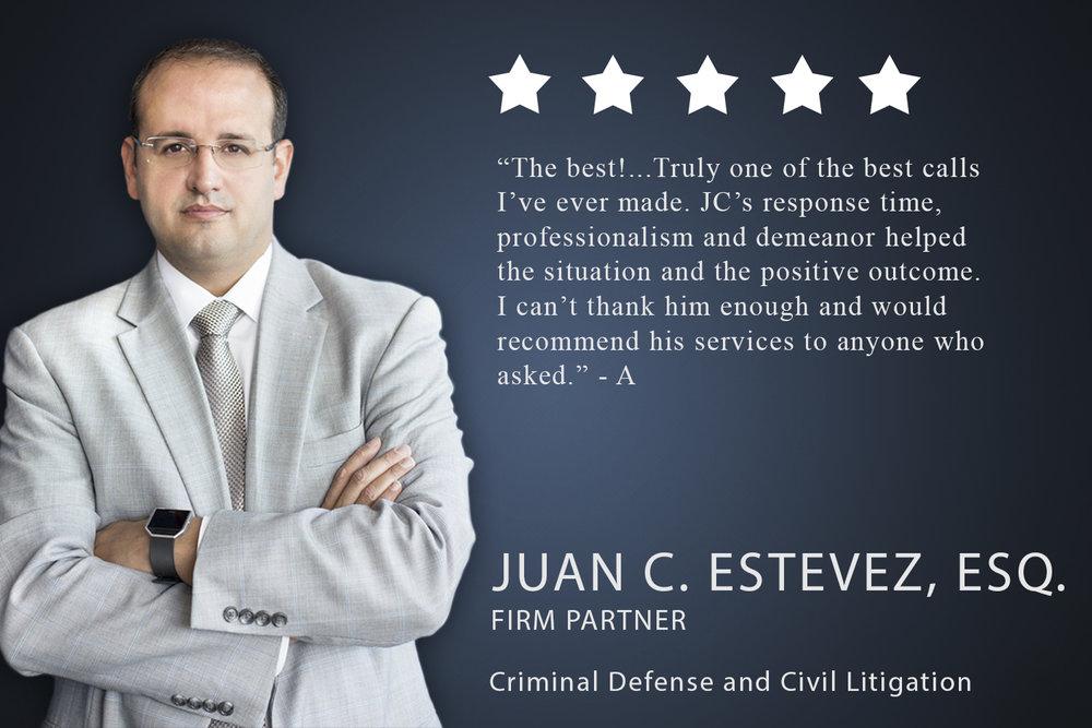 Juan C. Estevez Civil Litigation and Criminal Defense Attorney