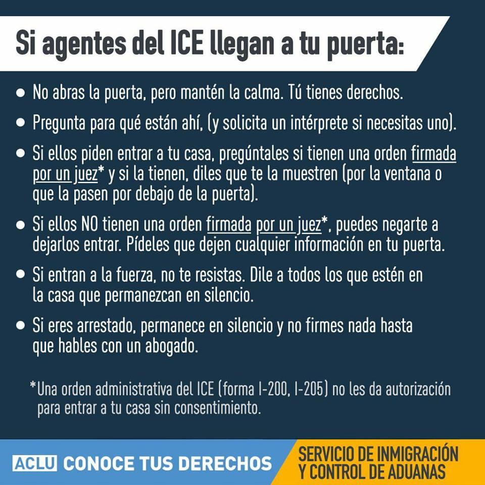 """Download """"Si agentes del ICE llegan a tu puerta"""" - Espanol"""