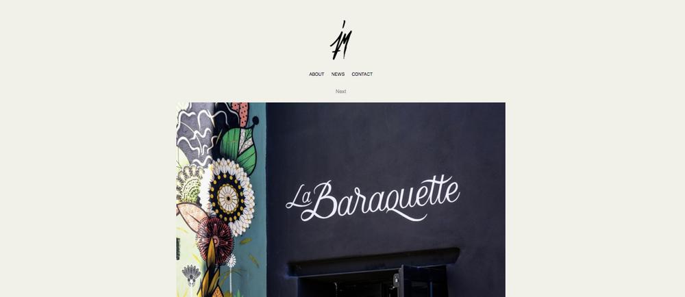 Jerome Monimart , ou Jey pour les intimes est le créateur de l'identité visuelle de La Baraquette.