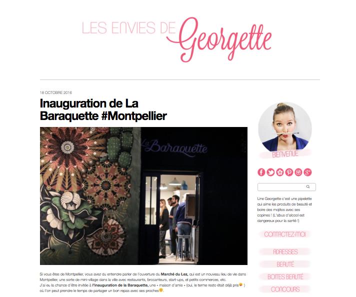 La blogeuse et amie Anne Sophie-  Les envies de Georgette -était présente lors de l'inauguration. Elle livre ses ressentis en toute objectivité (si,si)