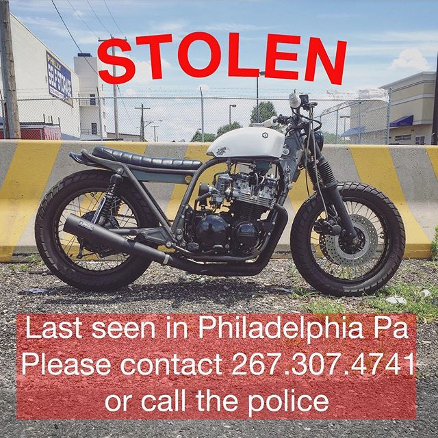 Help! @pistontrigger 's KZ650 was stolen in Philly last night in Queen Village. Keep an eye out Philly people.