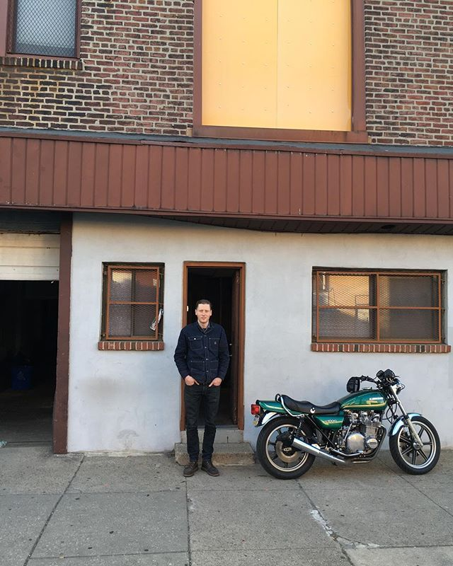 Took a break but we're back. I'm standing in front of the new home for C&S. It needs a lot of work but it's gonna be awesome. Cheers to riding old bikes and having fun. #castandsalvage #kz1000 #philly