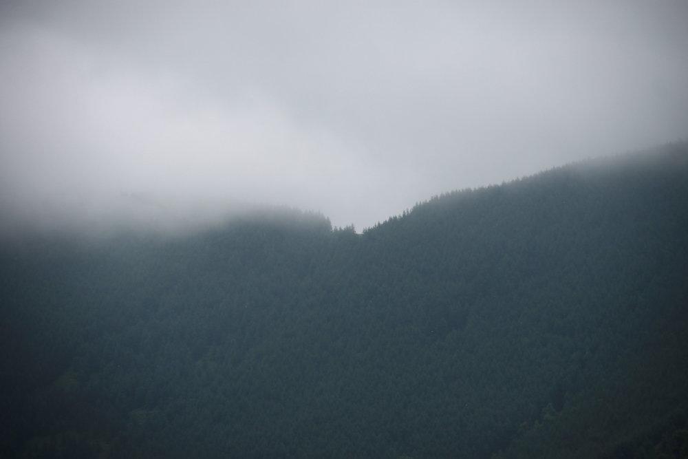 Morning fog over mountain
