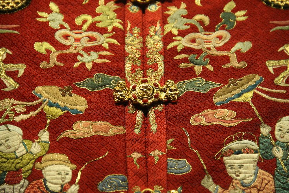 Partial of Ming Dynasty Empress' Hundred Children Jacket