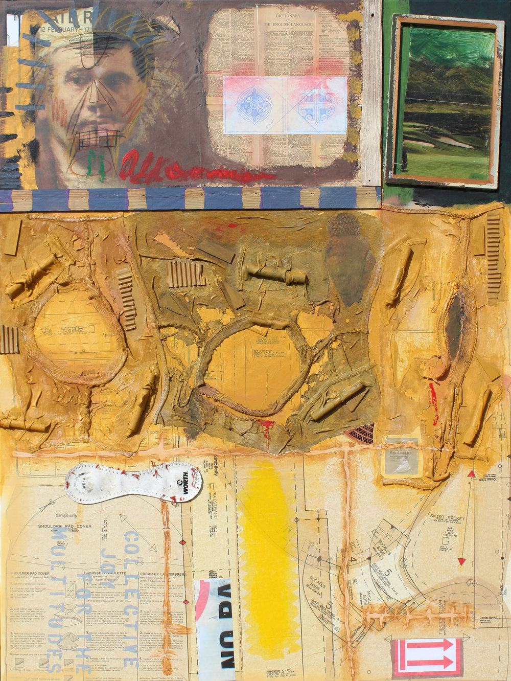 James Kent,  Collective Joy for the Multitudes,  Mixed media collage