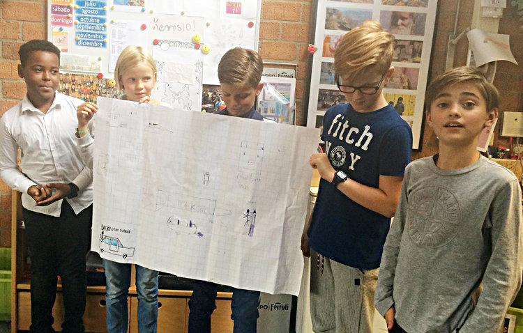 Dutch children share their ideas from an exercise by Teach The Future.