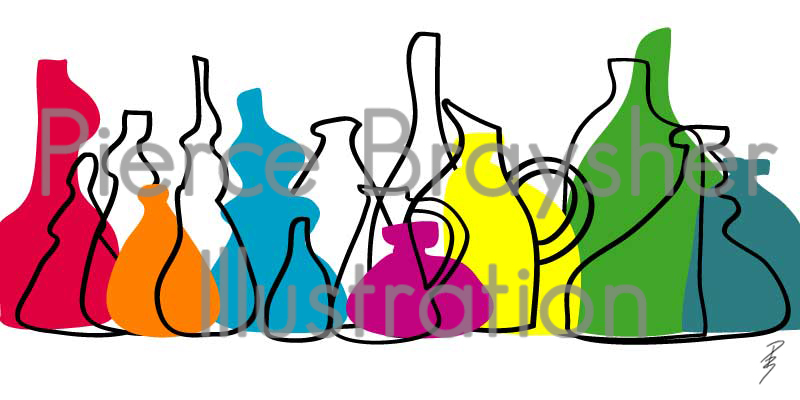A Large Collection of Vases