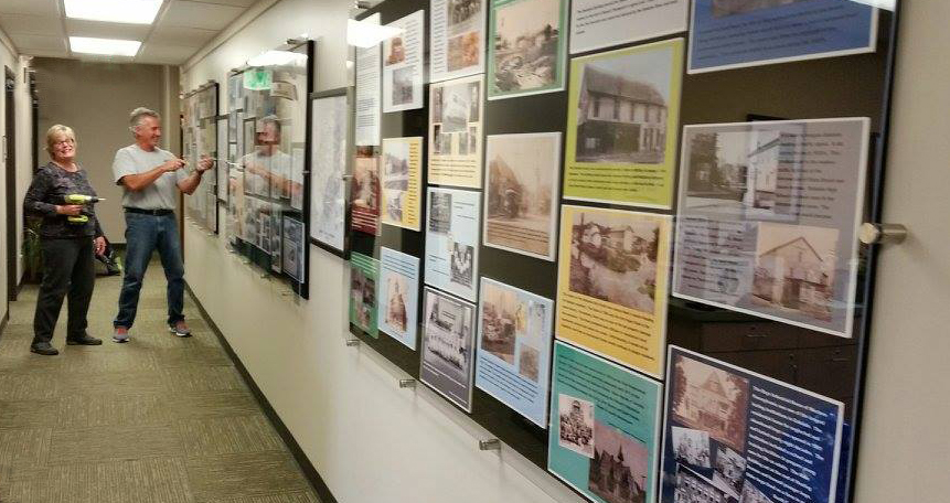 Historical installation in Western Allegheny Community Library