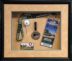 U.S. Open keepsake shadowbox