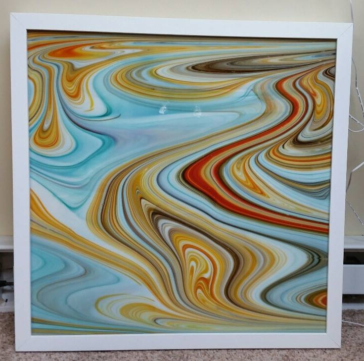 Framed piece unlit