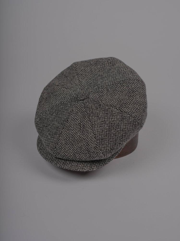 638c72c40f429 Wooster - Grey Harris Tweed Baker Boy