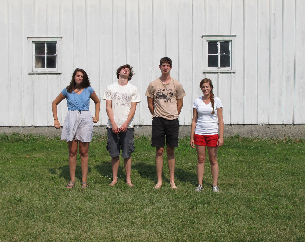 Emerging Artist Residency, Summer, 2012. From Left to right: Betsy Wright, Erik Jarvis, Ethan Kenvarg, Skye Livingston.