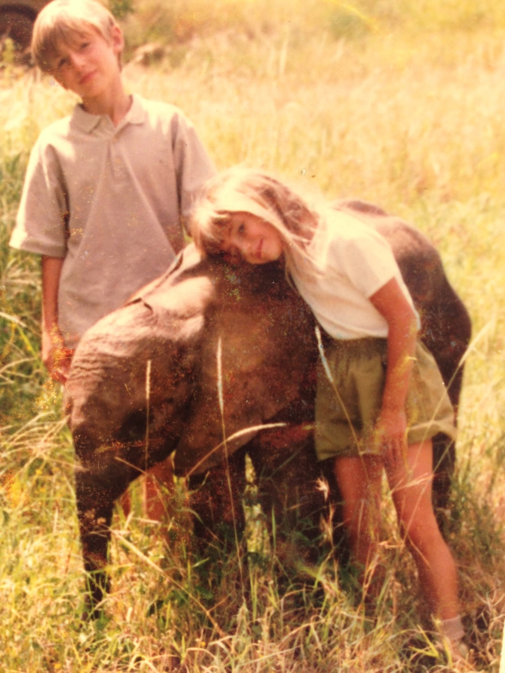 Baraka with my children Alexandre and Sabrina in Kenya, 1995