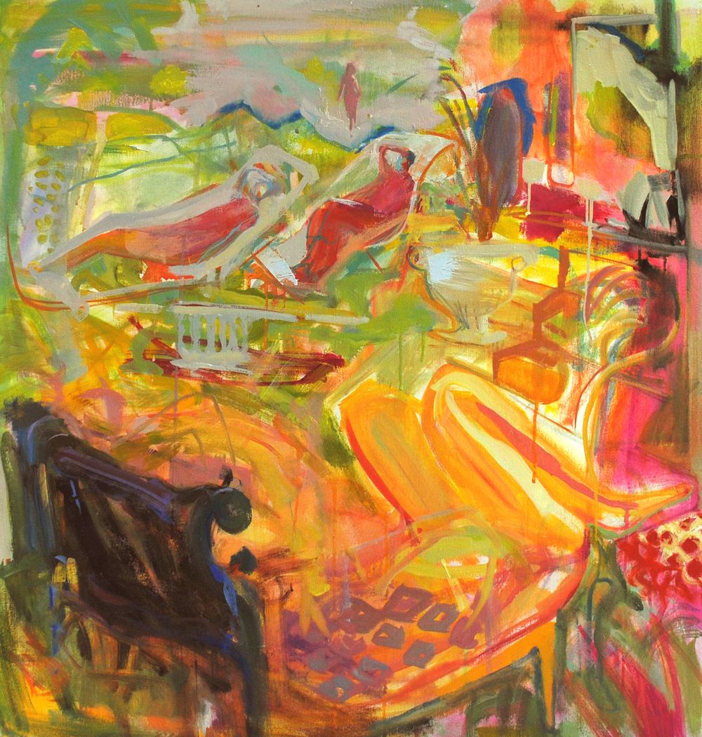 "Fainting Party II, (Heat) 30"" x 30"""