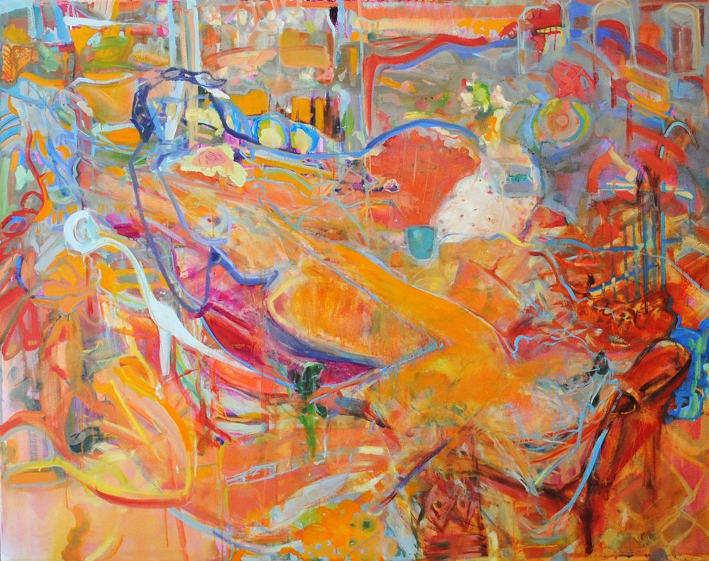 "Reclining Nudes 48"" x 60"" Private Collection"