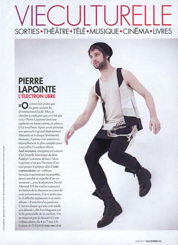 Pierre Lapointe - L'électron Libre