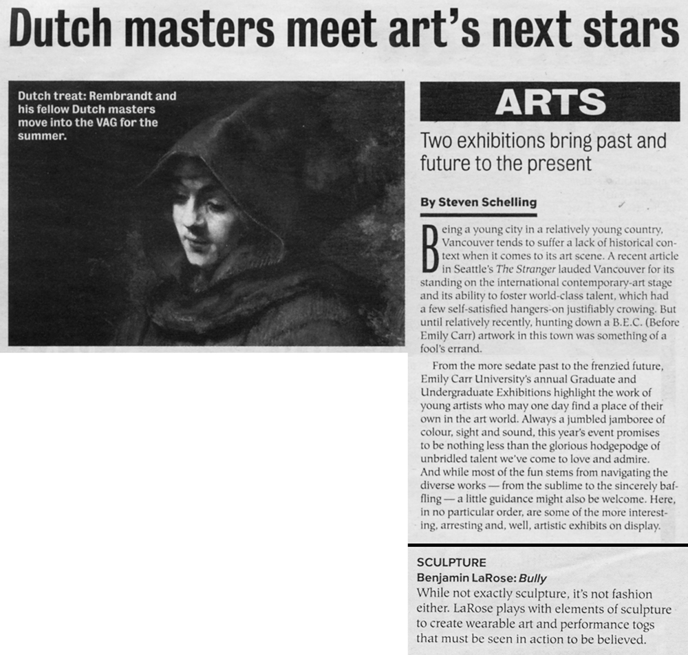 ARTS: Dutch Masters Meet Arts Next Stars