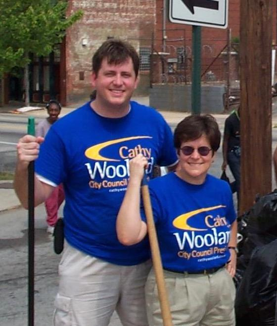Cathy and me at a community cleanup in 2001.