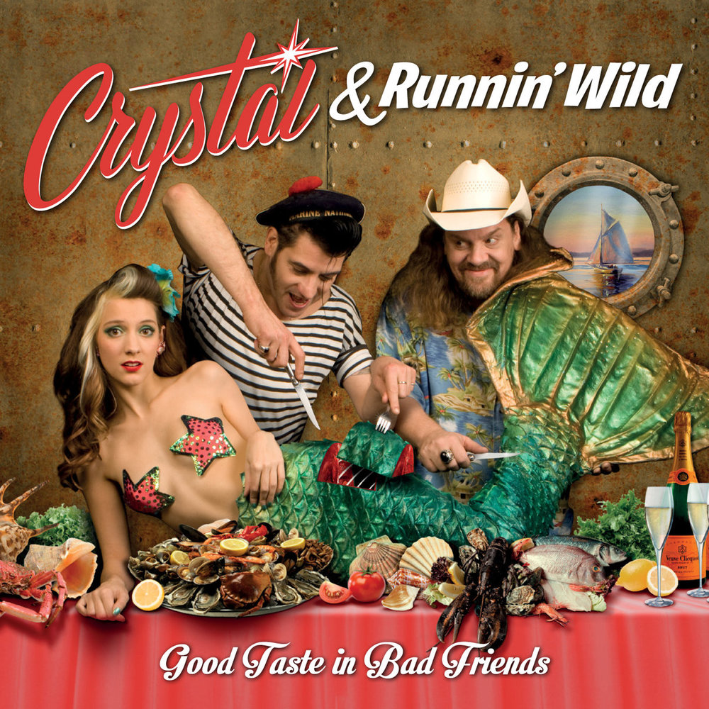 "<p><strong>CRYSTAL & RUNNIN' WILD</strong>CD-album ""Good Taste In Bad Friends""<br> Rhythm Bomb - rbr 5810 <a>2015</a></p>"