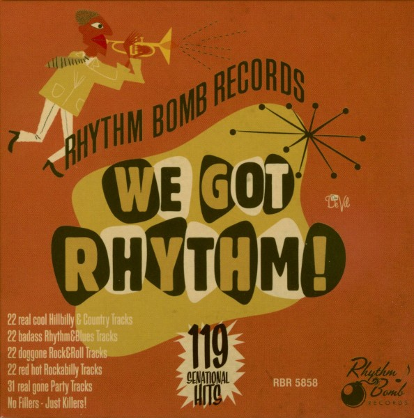 "<p><strong>5 CD Box ""We Got Rhythm""</strong> Rhythm Bomb - RBR5858<br> <b>Crystal & Runnin Wild</b>  <i>""White Trash Valentine""<br> ""Mermaid Blues""</i><br> en 2 meer<br> <a>2015</a></p>"
