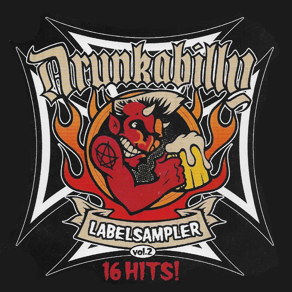 "<p><strong>CD ""Drunkabilly Labelsampler Vol. 2""</strong> Drunkabilly - DBR20040 <br> <b>Hètten Dès</b> ""<i>Y.I.C.U.R.A.B.</i>""<br> <b>Runnin' Wild</b> ""<i>Ice Cream Crime</i>""<br> <a>2008</a></p>"