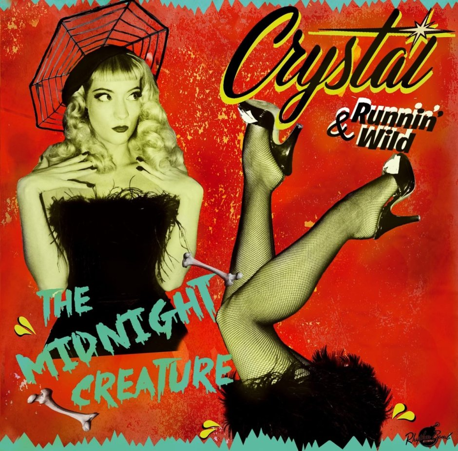 "<p><strong>CRYSTAL & RUNNIN' WILD</strong>CD album ""The Midnight Creature""<br> Rhythm Bomb - RBR 18703<a>2018</a></p>"