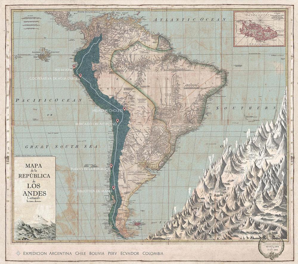 Mapa de la República de los Andes, 2016