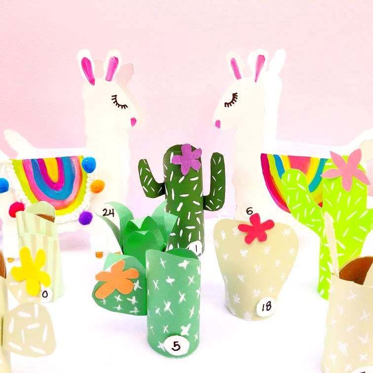 Cactus And Llama Advent Calendar Tiny Paper Cuts
