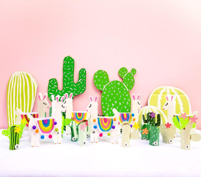 DIY Cactus and Llama Christmas Advent Calendar