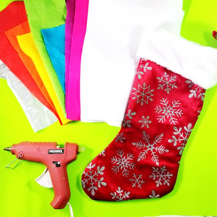 DIY Roller Skate Christmas Stocking by Tiny Paper Cuts
