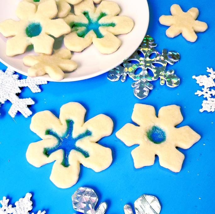 DIY Stained Glass Snowflake Cookies | Tiny Paper Cuts