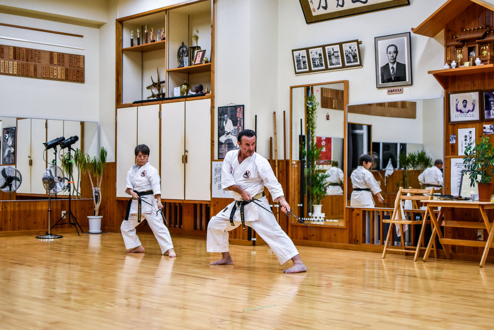 Renshi Hamby Sensei instructing on Sai Kata