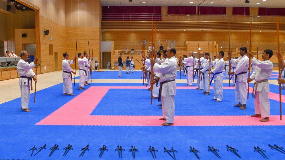 Teaching International Karateka at the Okinawa Traditional Karate and Kobudo Worldwide Seminar