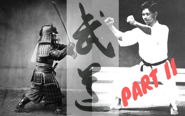"Hito no te ashi wo ken to omoe. -  Think of hands and feet as swords. (G. Funakoshi, "" 20 Guiding Principles"")"