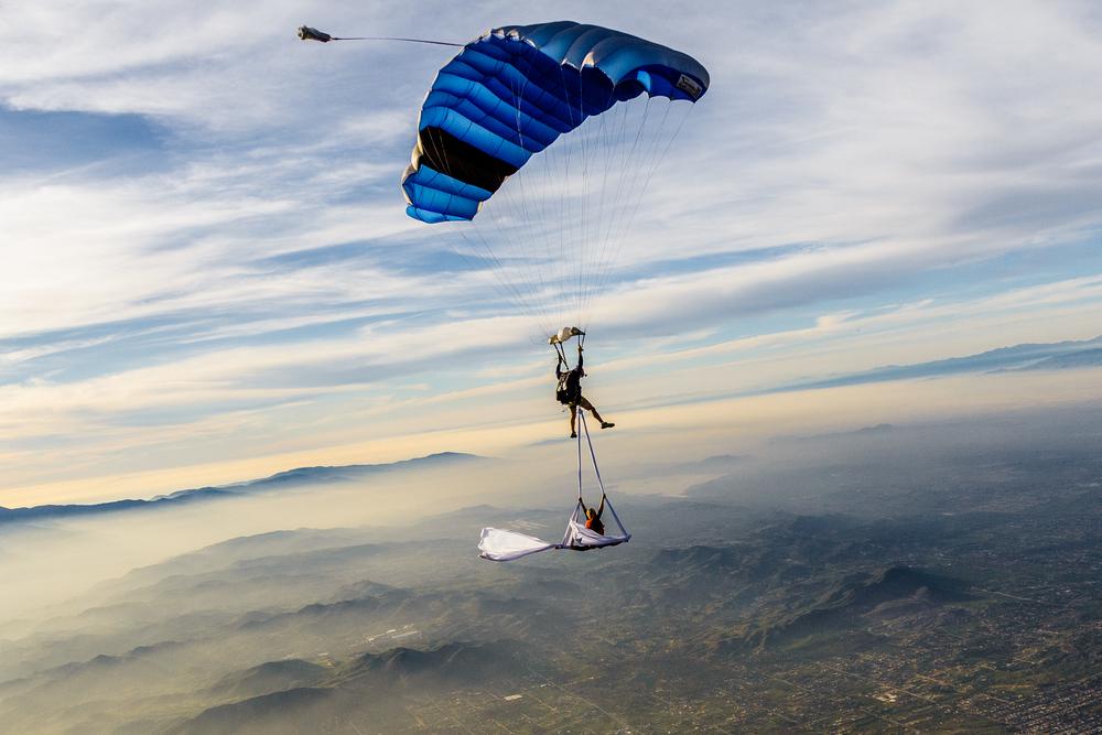 Aerial Silks Skydive