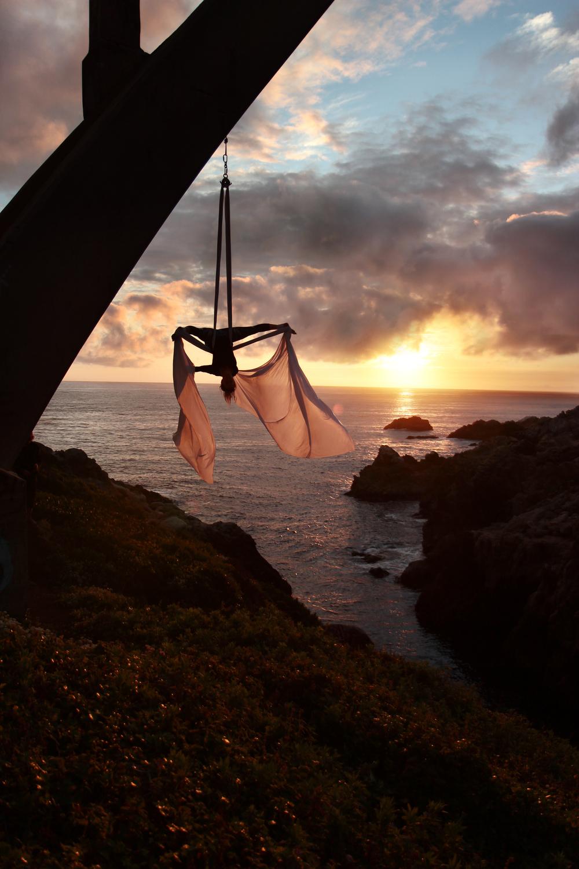 Sunset Aerial Silks