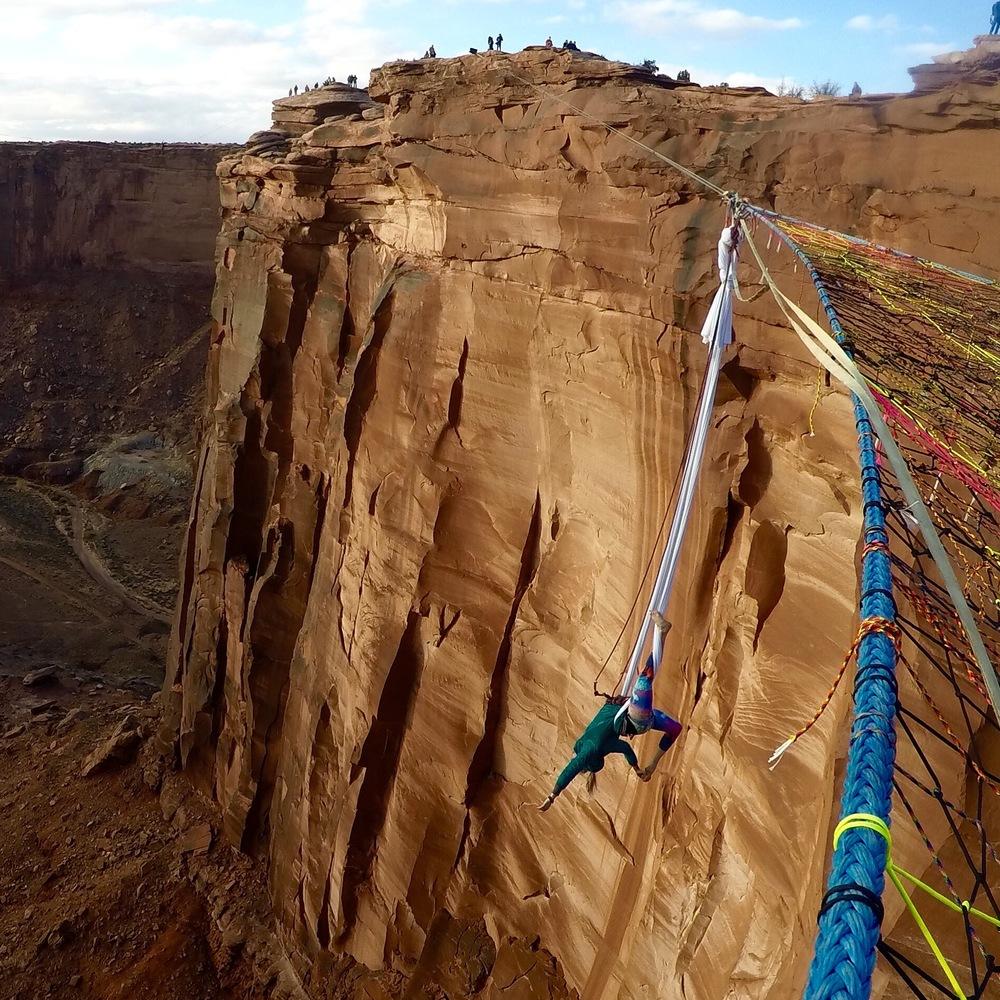 Aerial Silk in Moab