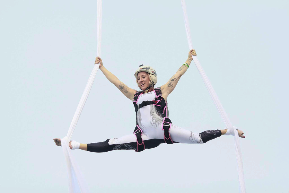 Aerial Silks BASE jump