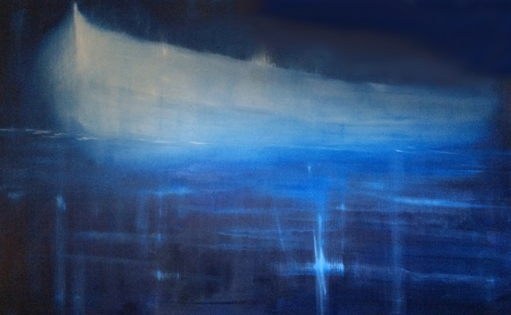 Ghost Boat 2016 oil on canvas 100x160cm