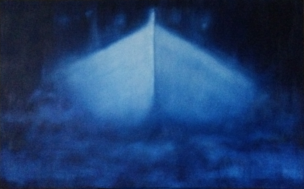 Ghost Boat 2. 2016, oil on canvas, 100x160cm