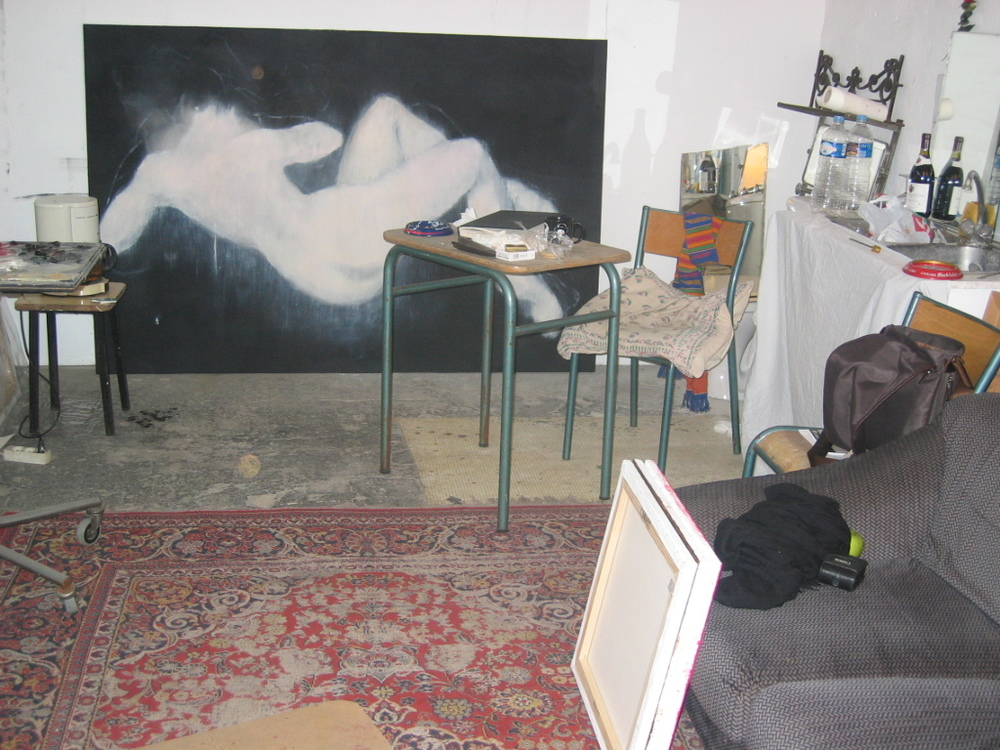 Another view of my studio space in St. Maur.