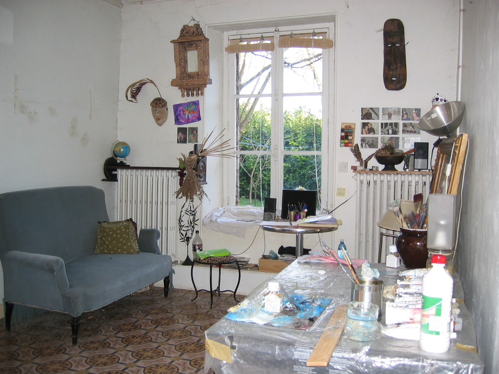 The studio in Septeuil. It was wonderful living in the Normandy landscape.