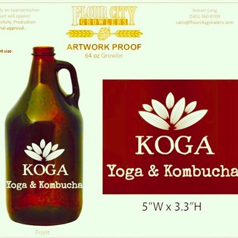 The Growlers are coming!! #namaste #kombucha