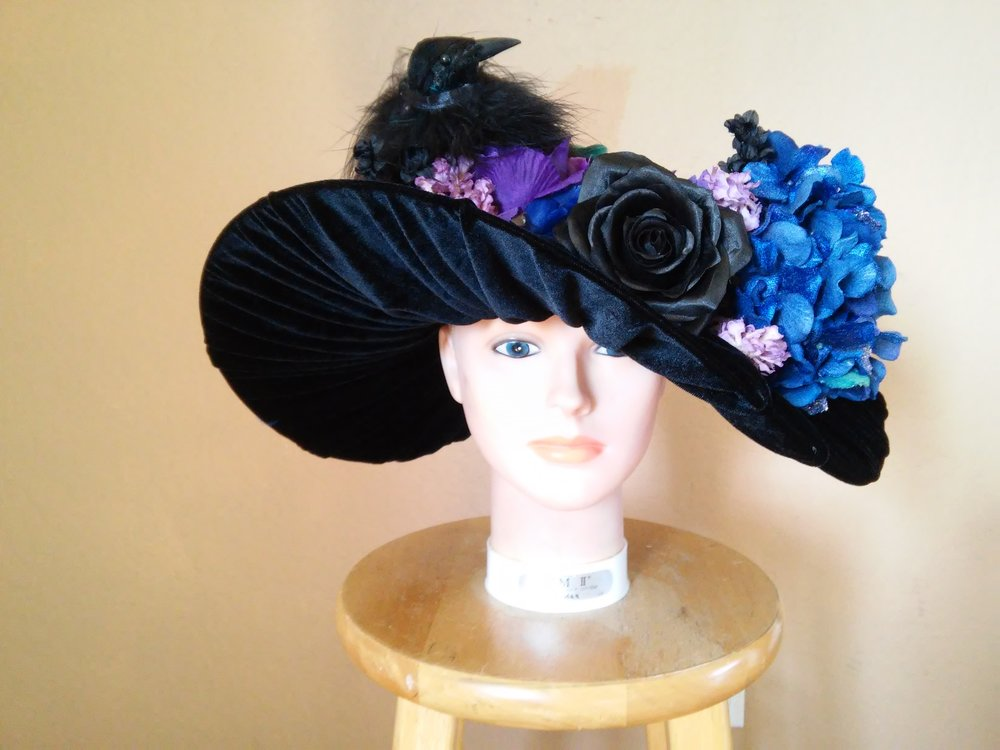 Merry Widow hat - Design and fabrication.