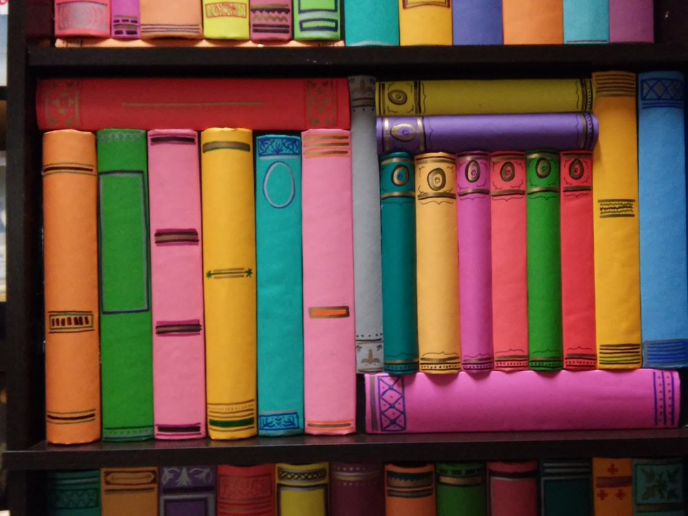 The Book of Love - Participatory installation for Dia de los Muertos, 5 shelves of