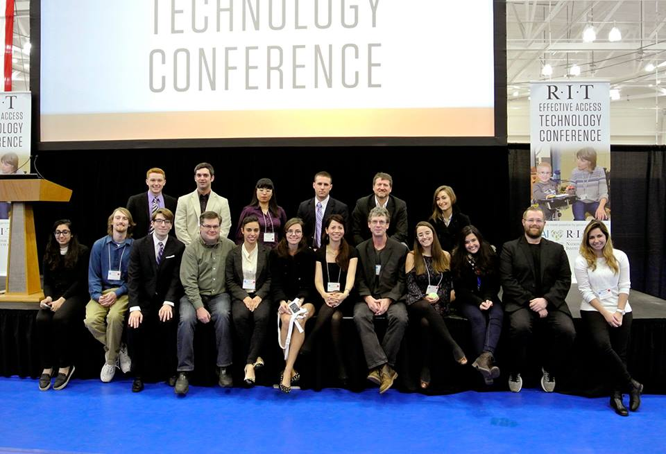 ThermApparel team and friends pose for photo at the Effective Access Technology Conference.