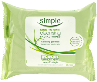 Simple Cleansing Facial Wipes. Walmart: $4